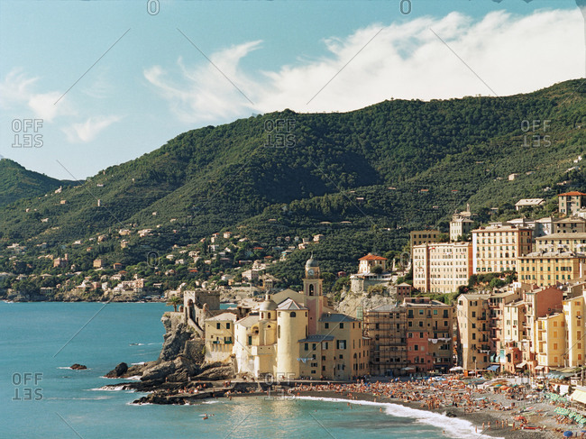 The small fishing village of Camogli, Italy