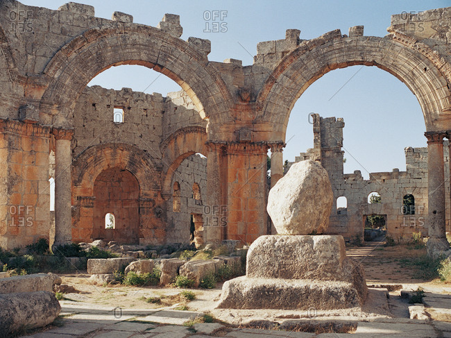 Ruins of the Church of Saint Simeon Stylites, Syria