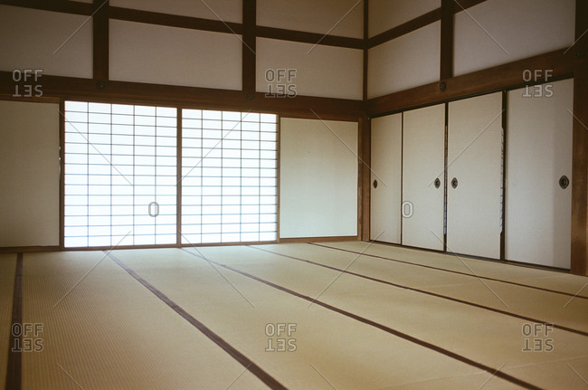An empty room in a Japanese house