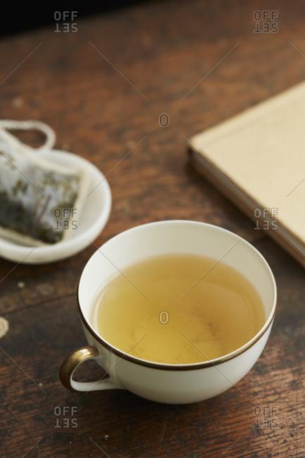Yellow tea served in a mug