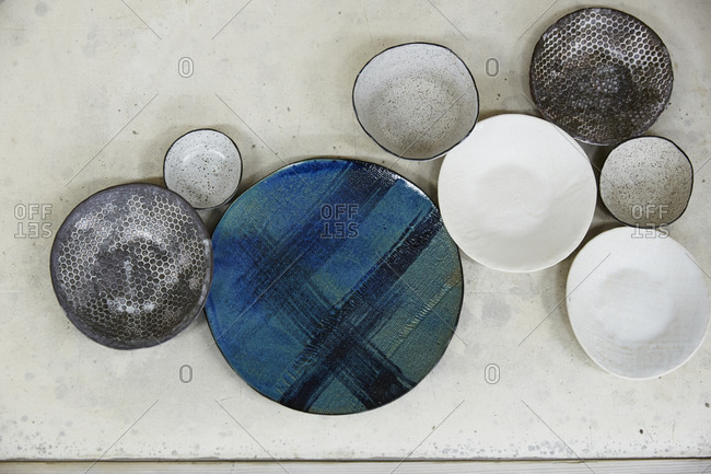 A variety of ceramic dishware