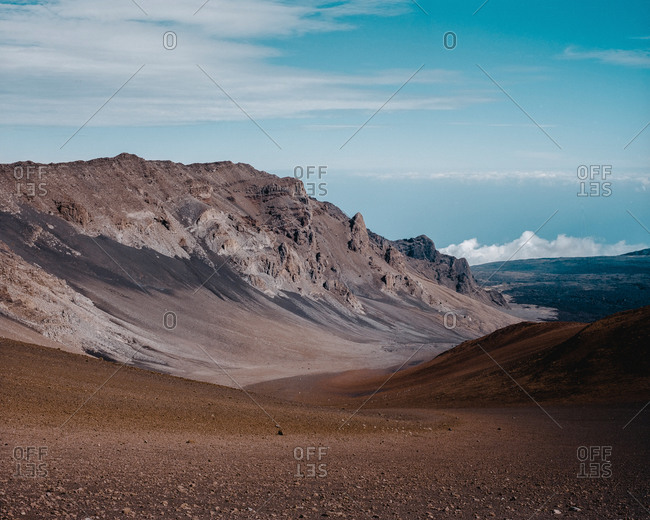 Barren mountaintop with expansive vista