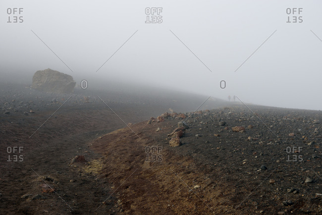 Fog in the volcanic crater, Maui