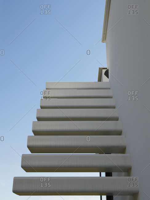 Staircase leading up to the top of a building