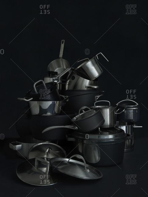 Studio shot of empty dishes