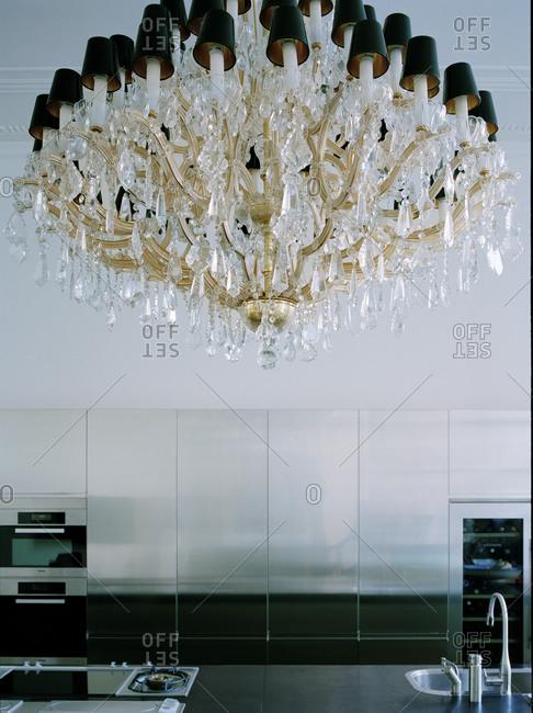Exclusive chandelier in a kitchen