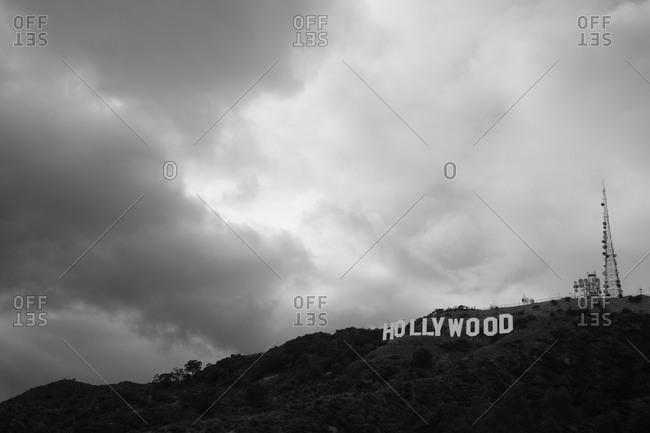 Los Angeles, California, USA - May 27, 2010: The Hollywood sign in Los Angeles, California