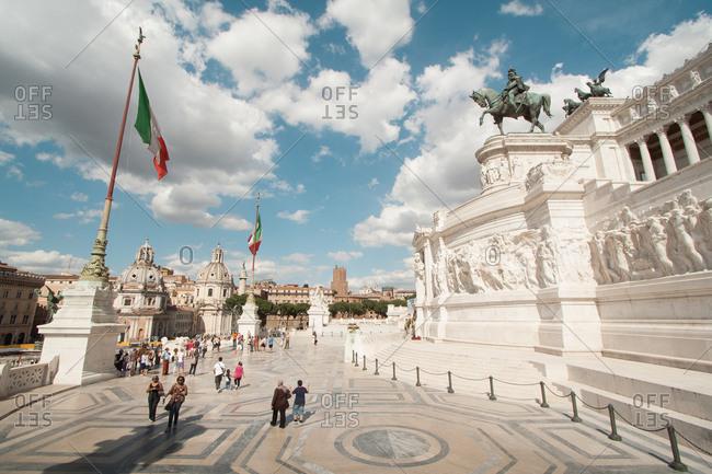 Rome, Italy - June 10, 2011: The Altare della Patria, also known as the Monumento Nazionale a Vittorio Emanuele II, Rome