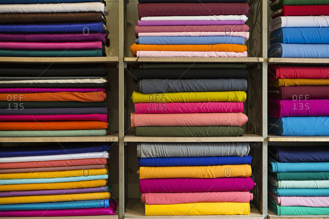 Materials in solids on shelf in India