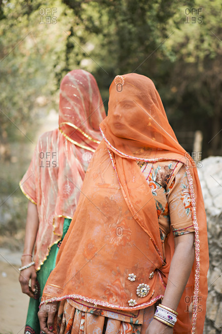 January 14, 2014: Women in traditional Indian clothing