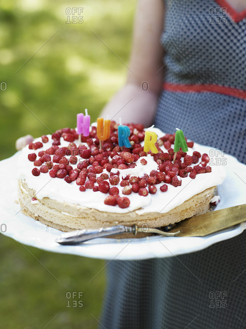 Close up of birthday cake