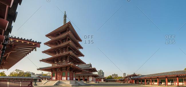 The Shitennoji Temple complex in Osaka, Japan