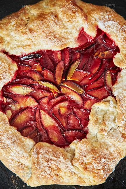 A freshly baked fruit tart