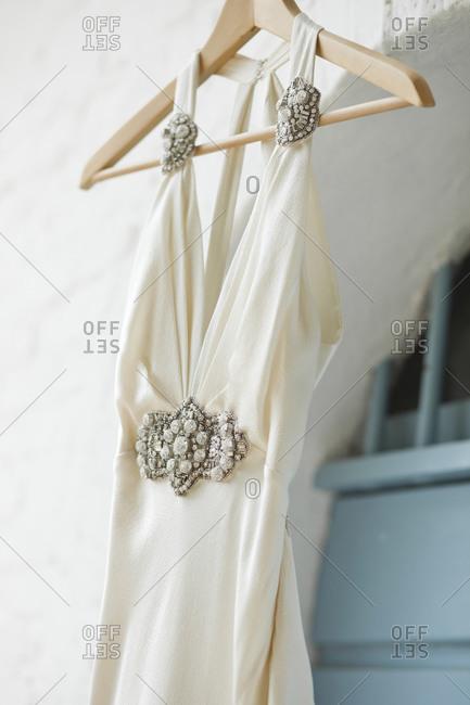 Detail of a wedding dress