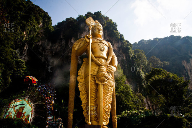 Statue of Lord Murugan by Batu Caves, Malaysia