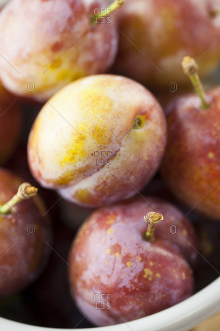 Opal plums in a bowl