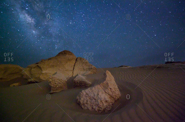 The Milky Way in the Sahara Desert