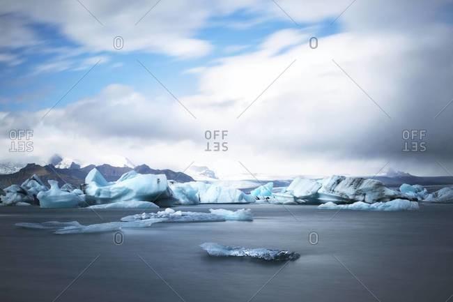 Jokulsarlon, a glacier lagoon in Southeast Iceland