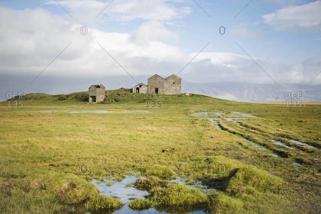 Abandoned houses in rural Iceland