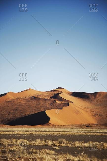 A massive sand dune in Sossusvlei, Namibia