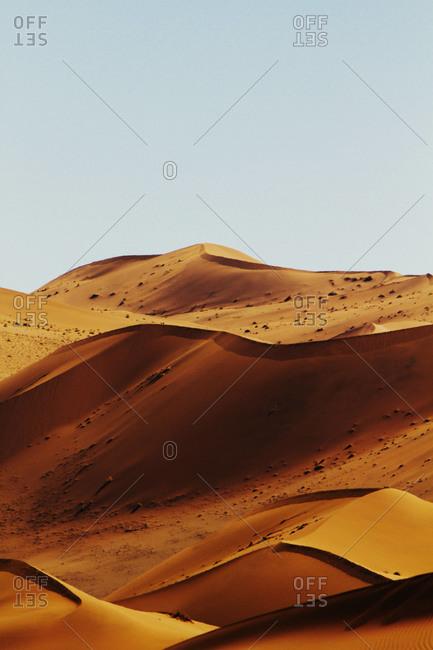Desert landscape and sand dunes, Sossusvlei, Namibia