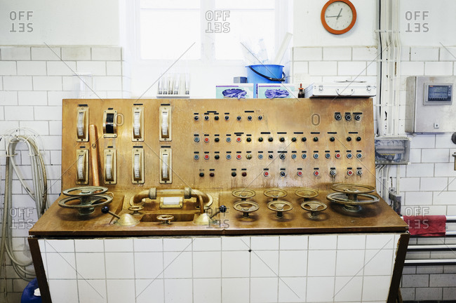 Control panel in brewery