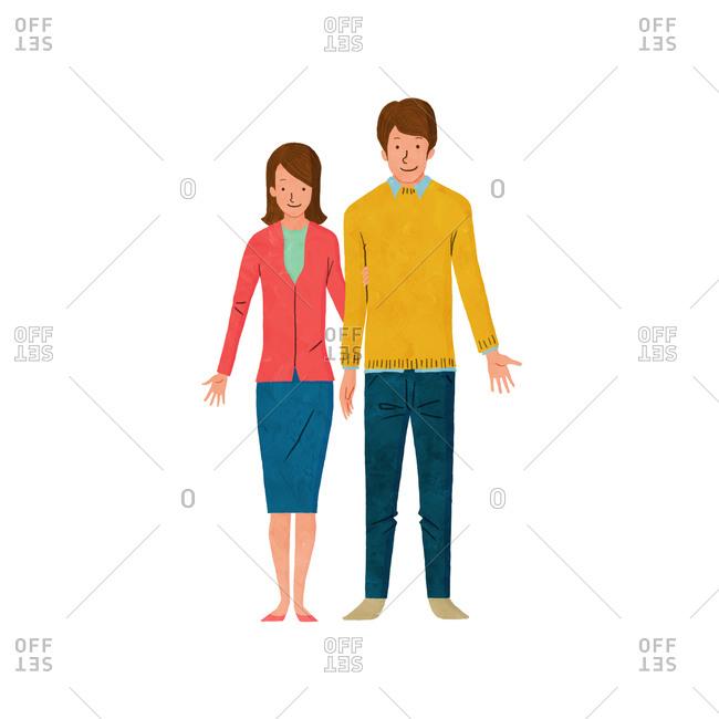 An adult couple