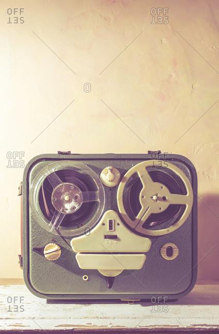 Old vintage reel to reel tape recorder