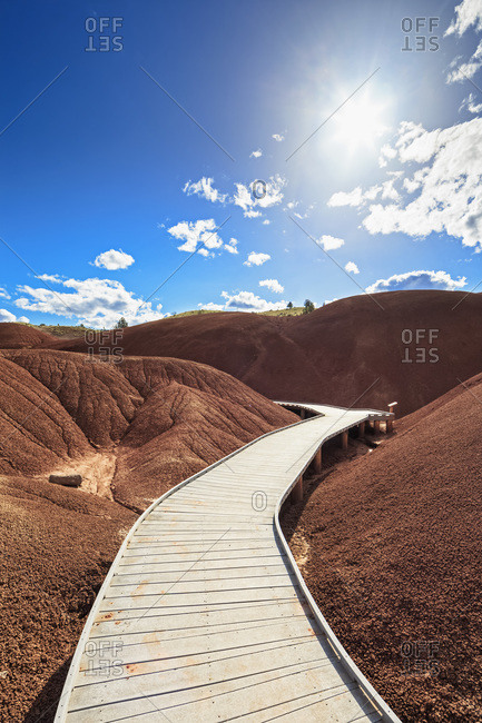 Boardwalk through John Day Fossil Beds National Monument, Oregon