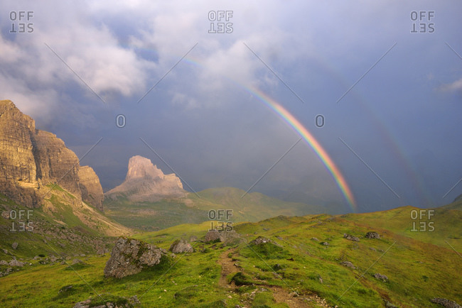 Rainbow in the mountains, Selva di Cadore, Veneto