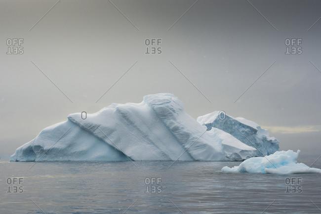 Iceberg in Charlotte Bay at Antarctic Peninsula