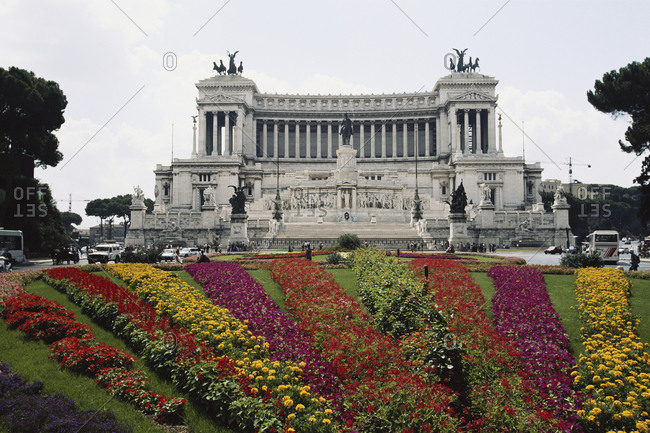 The Vittorio Emanuele II Monument in Rome, Italy