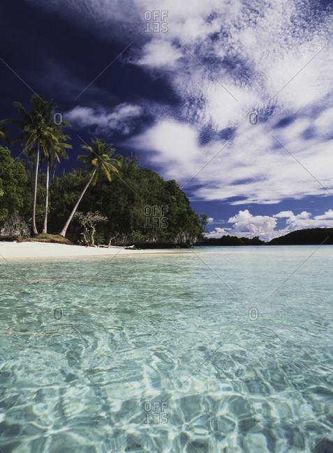 View of Honeymoon Island in Palau