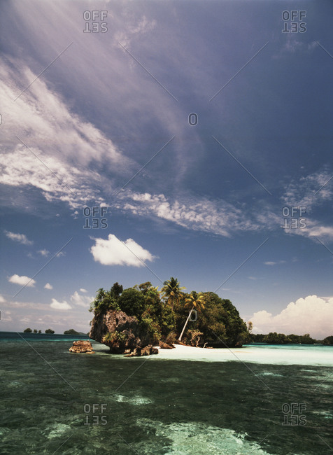 Rock formations on an island in Palau