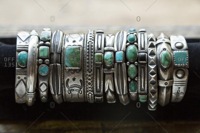 Native American silver bracelets