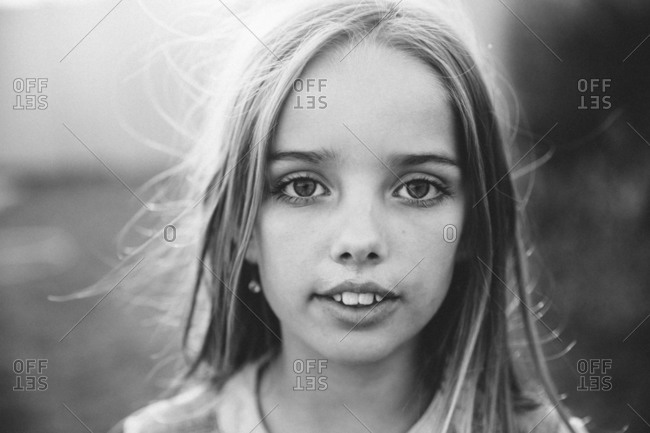 A little girl with big eyes