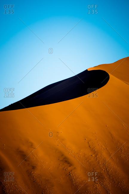A giant sand dune, Namib Desert, Namibia
