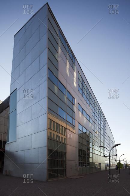 Helsinki, Finland - March 31, 2015: The exterior corner of the museum of modern art in Helsinki, Finland