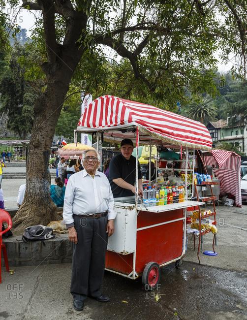 Santiago, Chile - September 20, 2014: Selling soft drinks at Parque Metropolitano, Santiago, Chile