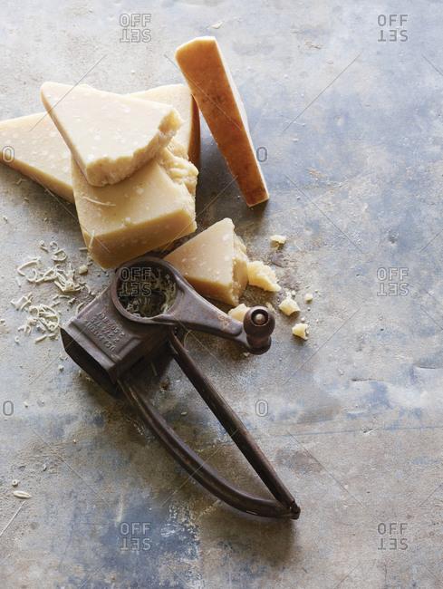 Parmesan grater and fresh parmesan