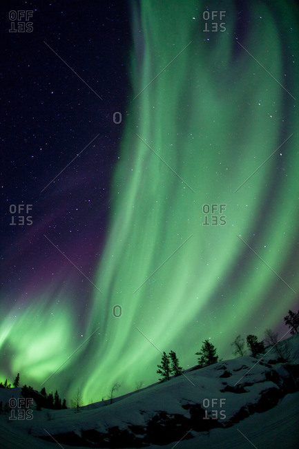 Aurora borealis display, Northwest Territories, Canada