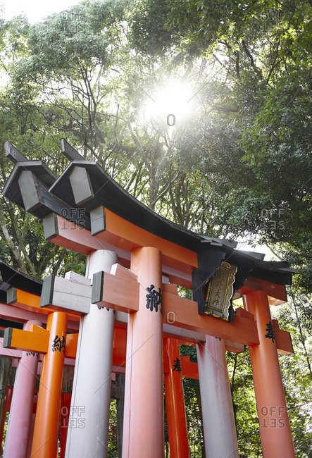 Gateway of the Fushimi Inari Taisha Shrine in Kyoto, Japan
