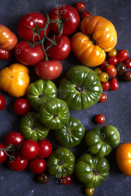 A mix of tomato varieties