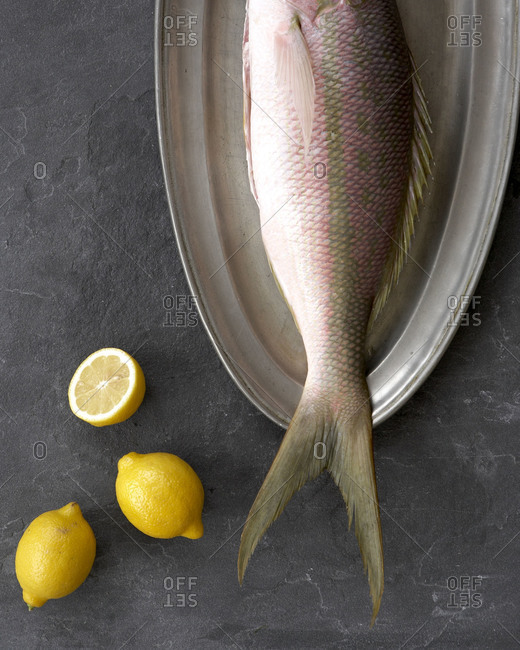 A whole uncooked fish