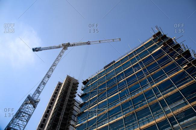Skyscraper under construction in London, England
