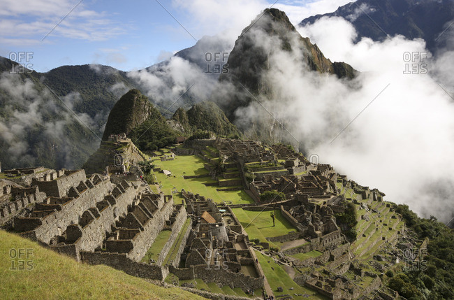 The Inca ruins of Machu Picchu in Peru