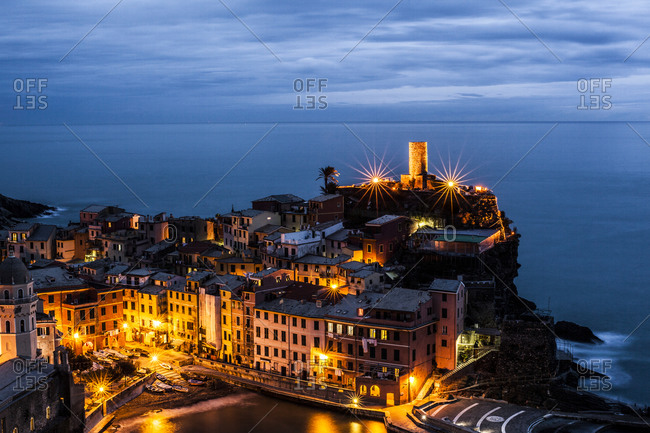 Vernazza, one of the five towns in Cinque Terre