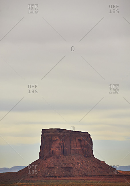 Butte in Monument Valley, Utah