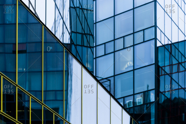Glass facade of a modern office building, Munich