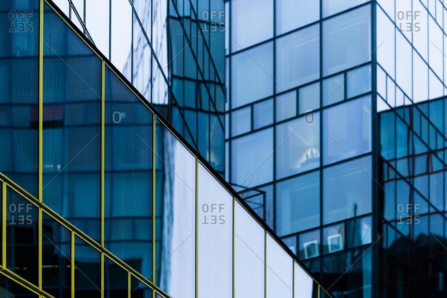 Glass facade of a modern office building, Munich
